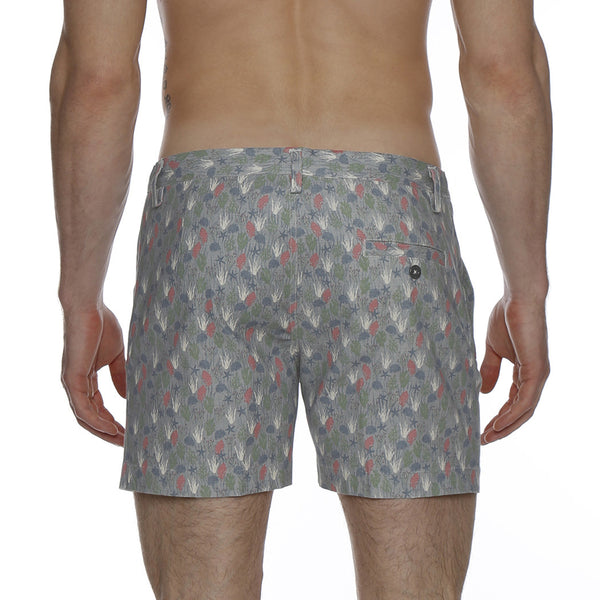 Under the Sea Print Vintage Holler Mid-Thigh Short
