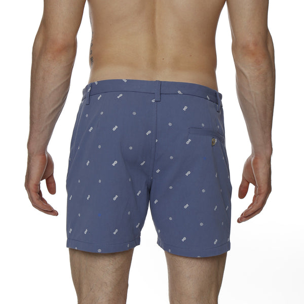Pineapple Print Vintage Holler Mid-Thigh Short