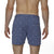 [parke & ronen] Pineapple Print Vintage Holler Mid-Thigh Short - slate blue pineapple (Thumbnail)