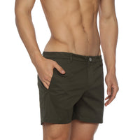 Solid Stretch Holler Shorts, Accent Colors