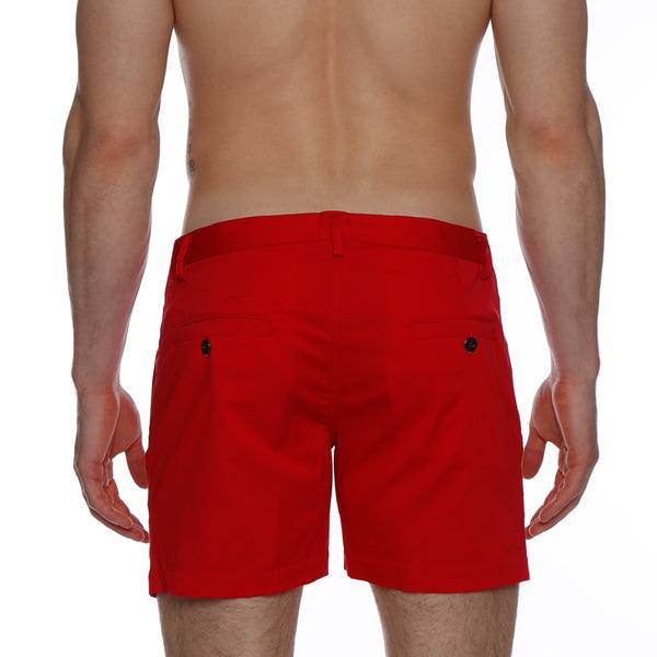 Bright Solid Stretch Vintage Holler Mid-Thigh Short
