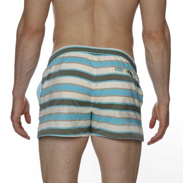 "2"" Dickie Stripe Barcelona Retro Swim Trunk"