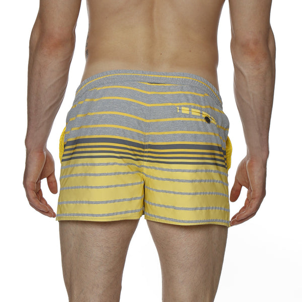 "2"" Elia Stripe Barcelona Retro Swim Trunk"