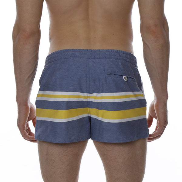 "2"" Bold Striped Barcelona Retro Swim Trunk"