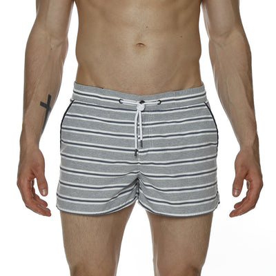 "2"" Barcelona Swim Trunk, Retro Multi Stripe - parke & ronen"