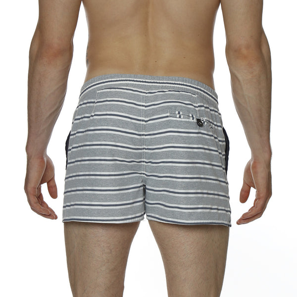 "2"" Multi. Striped Barcelona Retro Swim Trunk"