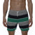 [parke & ronen] Striped Vintage Mid-Thigh Lounge Short - green stripe (Thumbnail)