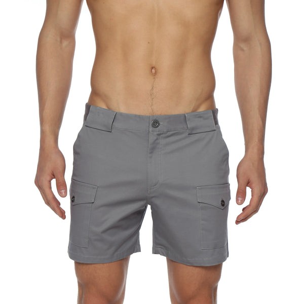 Solid Stretch Cargo Holler Short