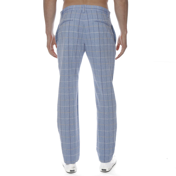 Glen Plaid Cotton Lido Trouser
