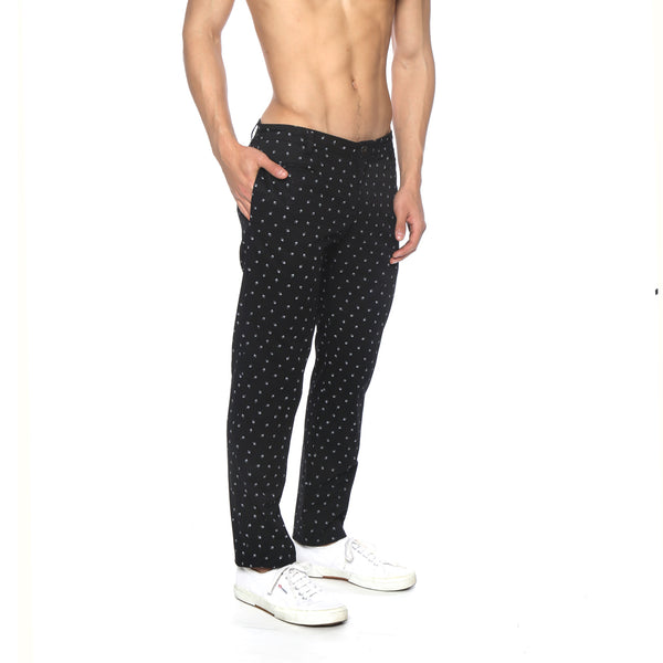 Fan Leaf Print Cotton Lido Trouser
