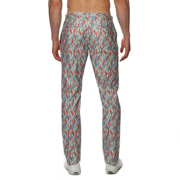 Surfboard Print Lido Stretch Trouser