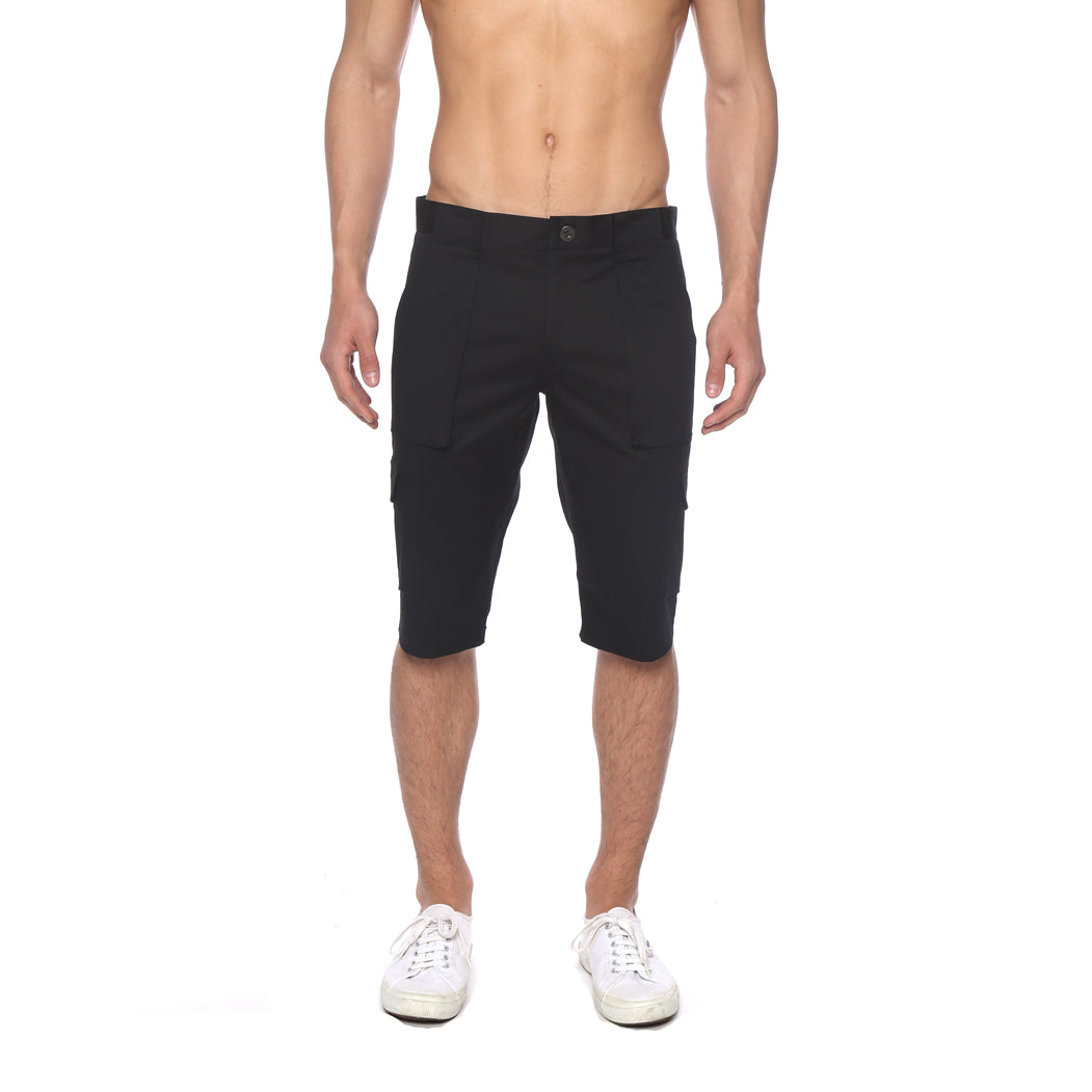 13fbae795d Solid Stretch Long Cargo Shorts - parke & ronen