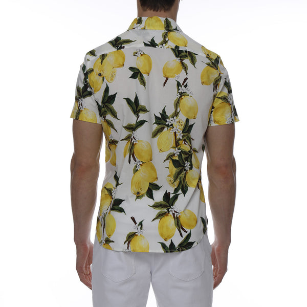 Lemon Printed Stretch Short Sleeve Shirt