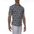 [parke & ronen] Navy Floral Print Stretch Short Sleeve Shirt - navy/white floral (Thumbnail)