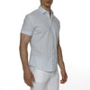 [parke & ronen] Paisley Drop Print Stretch Short Sleeve Shirt - white paisley drop (Thumbnail)