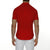 [parke & ronen] Solid Stretch Poplin Short Sleeve Shirt - red (Thumbnail)