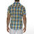 [parke & ronen] Plaid Cotton Voile Short Sleeve Biscayne Shirt - blue/yellow plaid (Thumbnail)