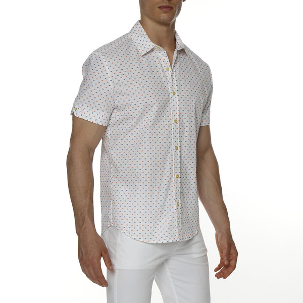 Brick Print Short Sleeve Biscayne Shirt