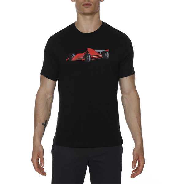 Formula One Race Car Screen Print Crewneck Tee