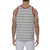 [parke & ronen] Striped Stretch Racer Tank Top - white/grey stripe (Thumbnail)