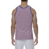 [parke & ronen] Multi. Stripe Stretch Tank Top - red/royal stripe (Thumbnail)