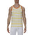 [parke & ronen] Striped Stretch Racer Tank Top - white/canary stripe (Thumbnail)