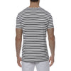 [parke & ronen] Multi. Contrast Stripe Stretch Crewneck Tee - grey/black stripe (Thumbnail)
