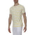 [parke & ronen] Single Color Contrast Stripe Stretch Crewneck Tee - white/canary stripe (Thumbnail)