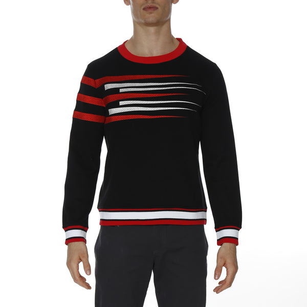 EXCLUSIVE: Speedster Stripe Embroidered Sweatshirt