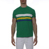 [parke & ronen] Bold Contrast Striped Beefy Jersey Palma Crewneck Tee - green (Thumbnail)