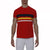 [parke & ronen] Bold Contrast Striped Beefy Jersey Palma Crewneck Tee - red (Thumbnail)