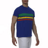 [parke & ronen] Bold Contrast Striped Beefy Jersey Palma Crewneck Tee - royal (Thumbnail)