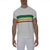 [parke & ronen] Bold Contrast Striped Beefy Jersey Palma Crewneck Tee - white (Thumbnail)