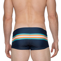 Navy/Orange Stripe