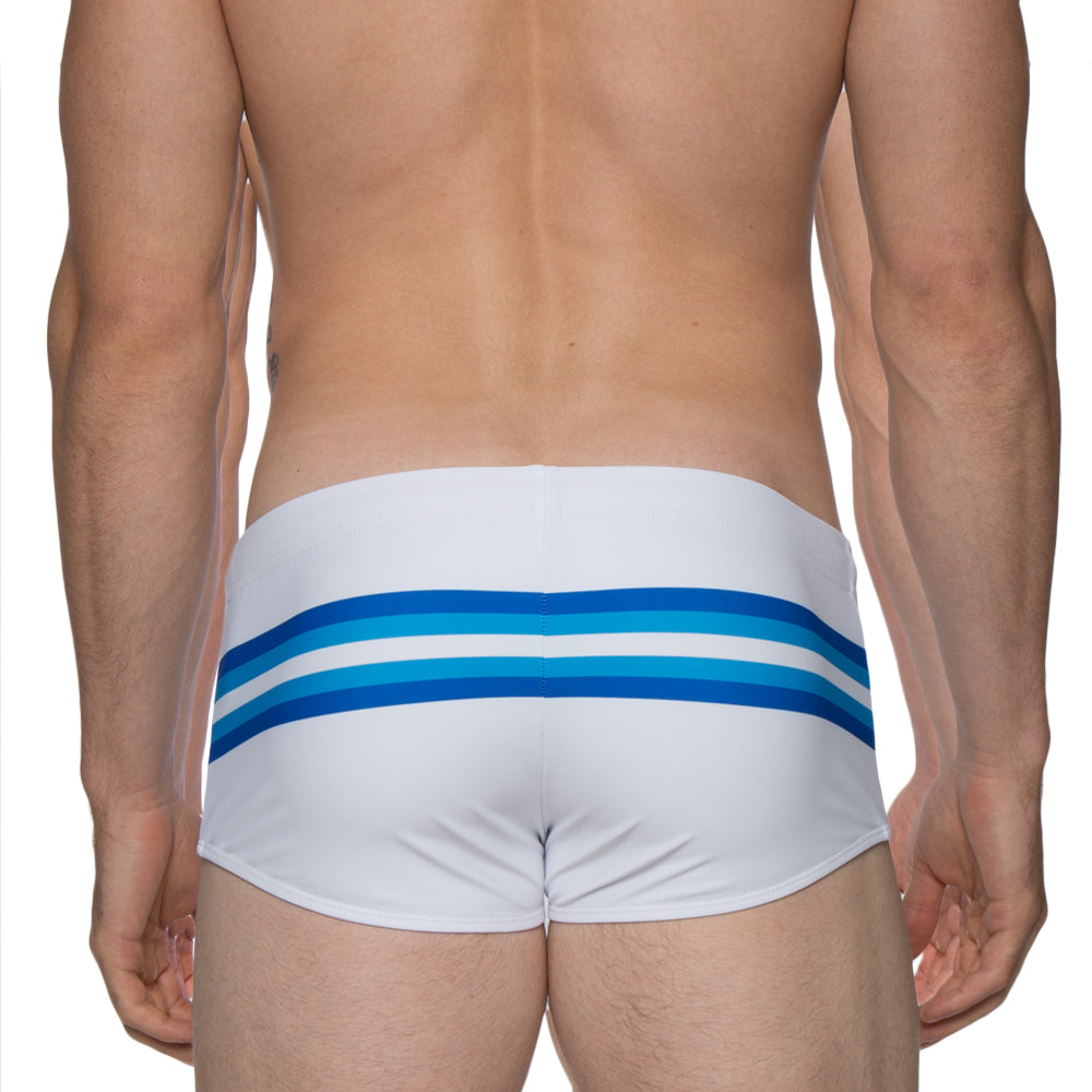 White/Blue Stripe
