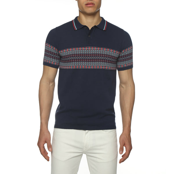 Jacquard Knit Polo