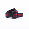 [parke & ronen] Double Stripe Battalion D-Ring Belt - navy/red stripe (Thumbnail)