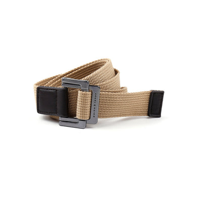 Khaki Solid Battalion D-Ring Belt - parke & ronen