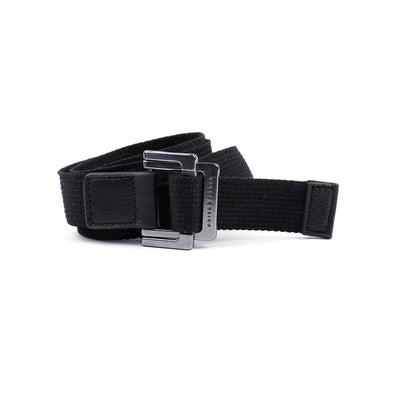 Black Solid Battalion D-Ring Belt - parke & ronen