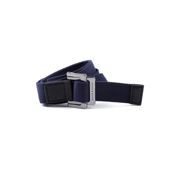 Navy Solid Battalion D-Ring Belt