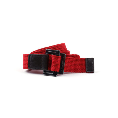 Red Solid Battalion D-Ring Belt - parke & ronen