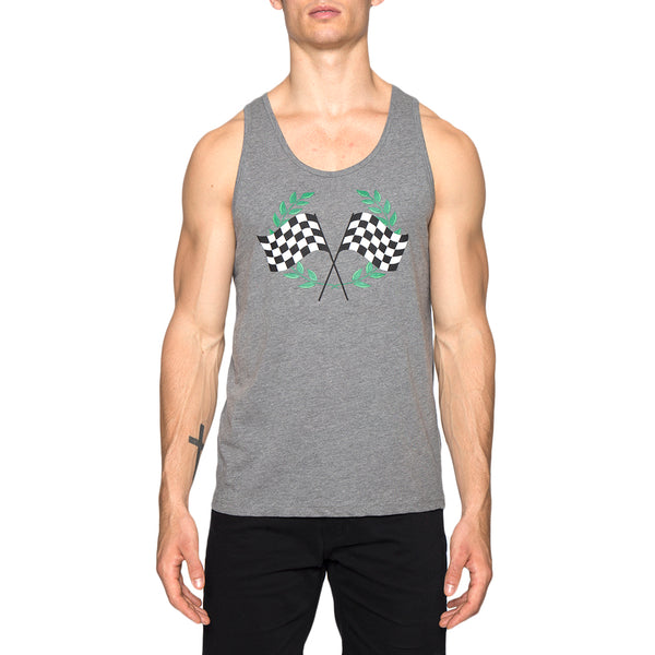Checkered Flags Screen Print Tank Top