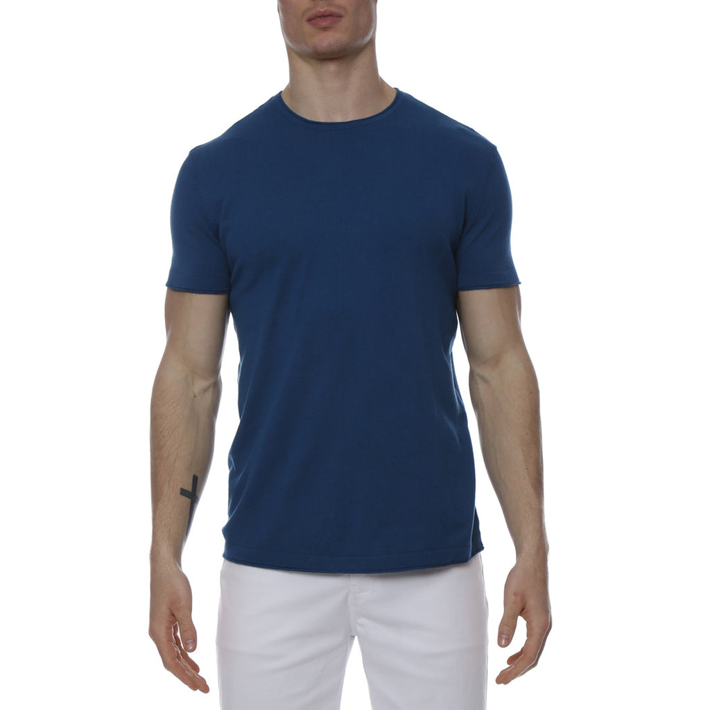 [parke & ronen] Solid Knit Crewneck Tee - seaport
