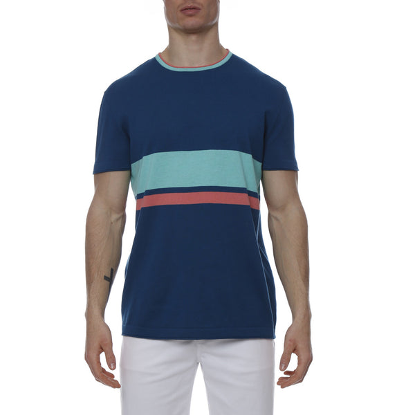 Regatta Stripe Knit Crewneck Tee