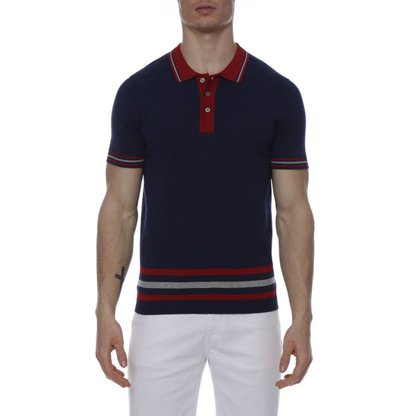 Stadium Stripe Knit Polo