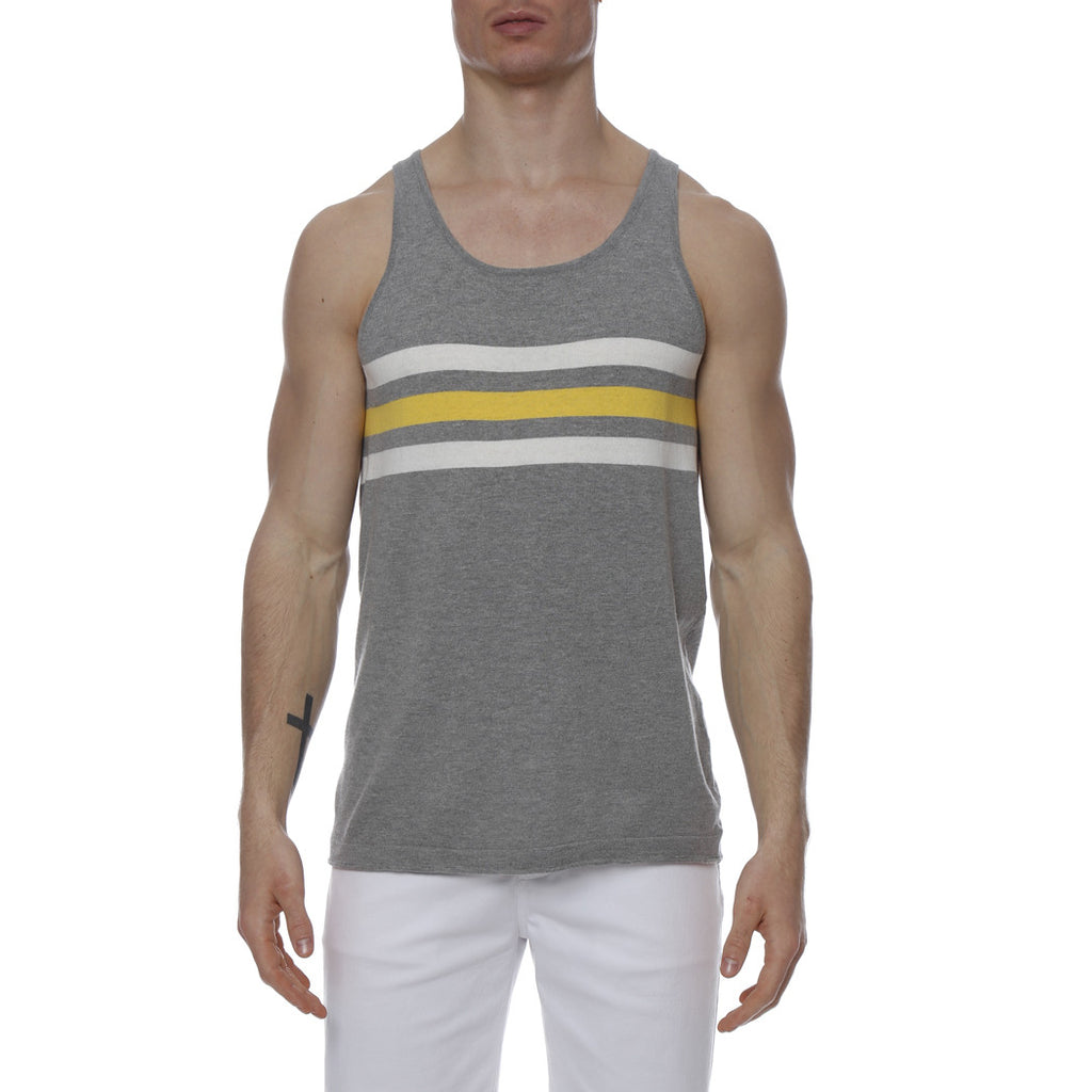 [parke & ronen] Regatta Stripe Knit Tank Top - grey