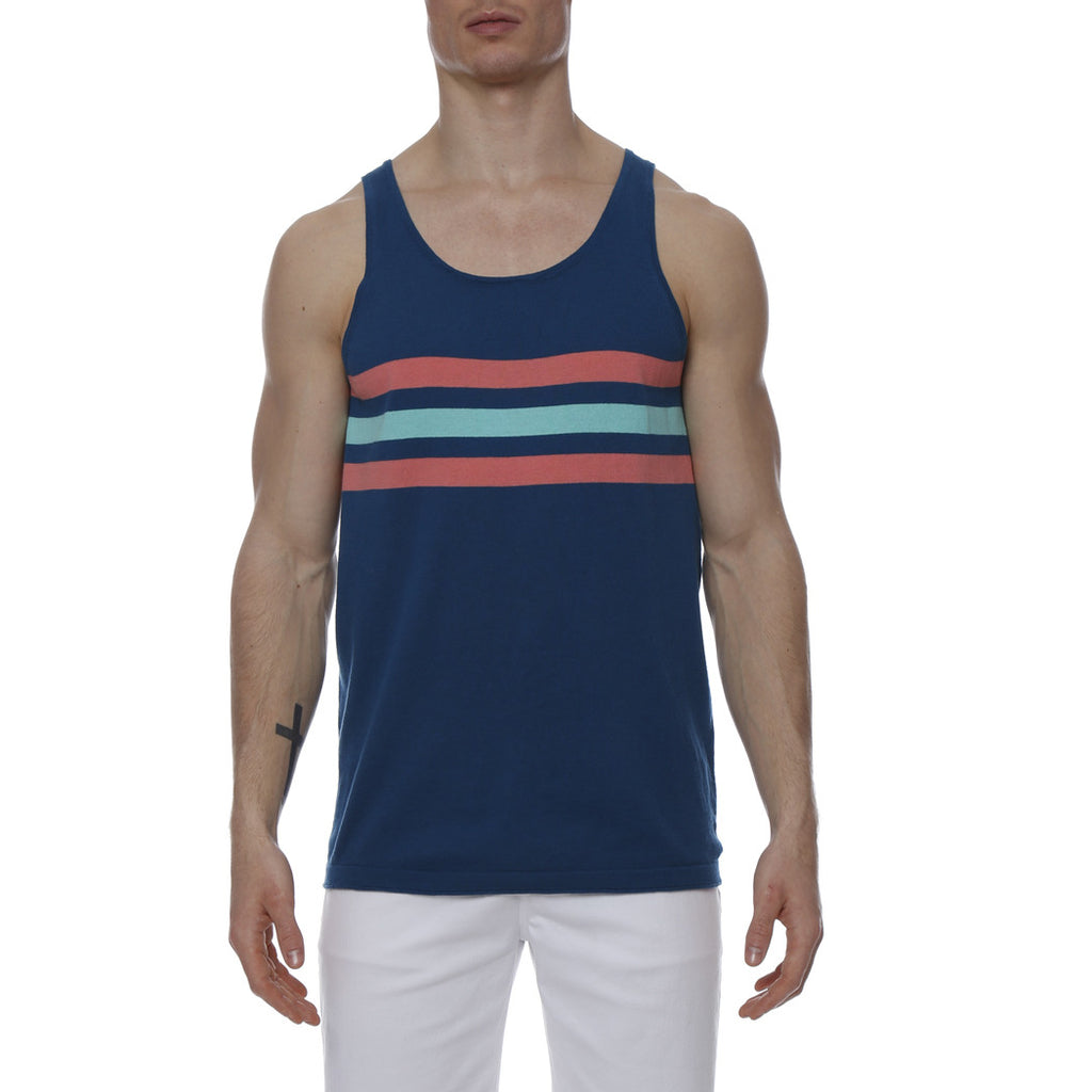 [parke & ronen] Regatta Stripe Knit Tank Top - seaport