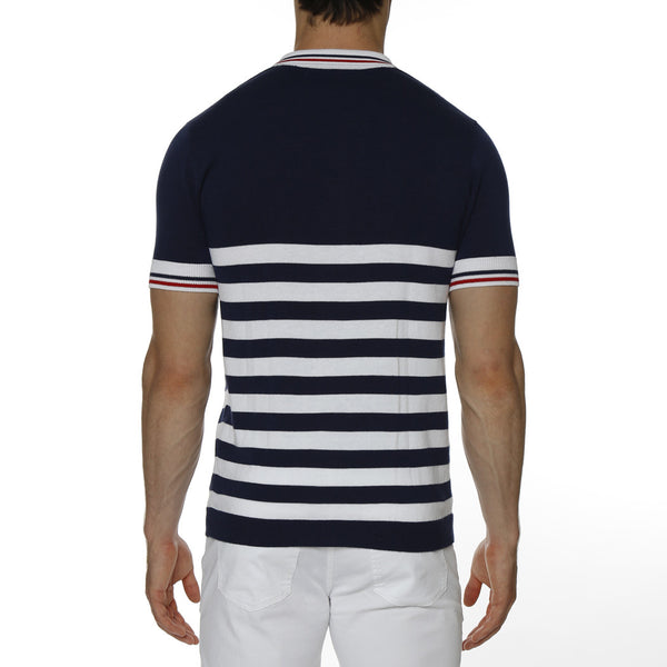Sailor Stripe Knit Polo