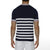 [parke & ronen] Sailor Stripe Knit Polo - navy stripe (Thumbnail)