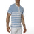 [parke & ronen] Sailor Stripe Knit Polo - sky blue stripe (Thumbnail)